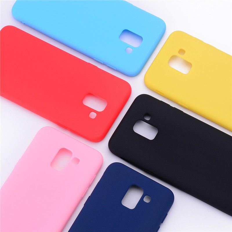 detailed look f9f68 a0091 US $0.87 34% OFF|For Phone Case Samsung Galaxy j6 2018 Soft Candy color  Silicone Case For Fundas Samsung j6 Plus 2018 j600 j610f Case Cover  Coque-in ...