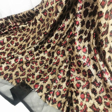 1 Yard price High quality Leopard Print design sequins fabric for women dresses sexy! 4 Colors in stock Red, Gold, Black, Blue easter valentine leopard heart black top sparkle bling gold sequins skirt 1 8y mapsa0485