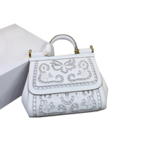 Luxury Italy Brand Sicily Ethnic Floral Bag Leather Sicilian Casual Tote Platinum Package Lady Shoulder Messenger Bag Sac A Main