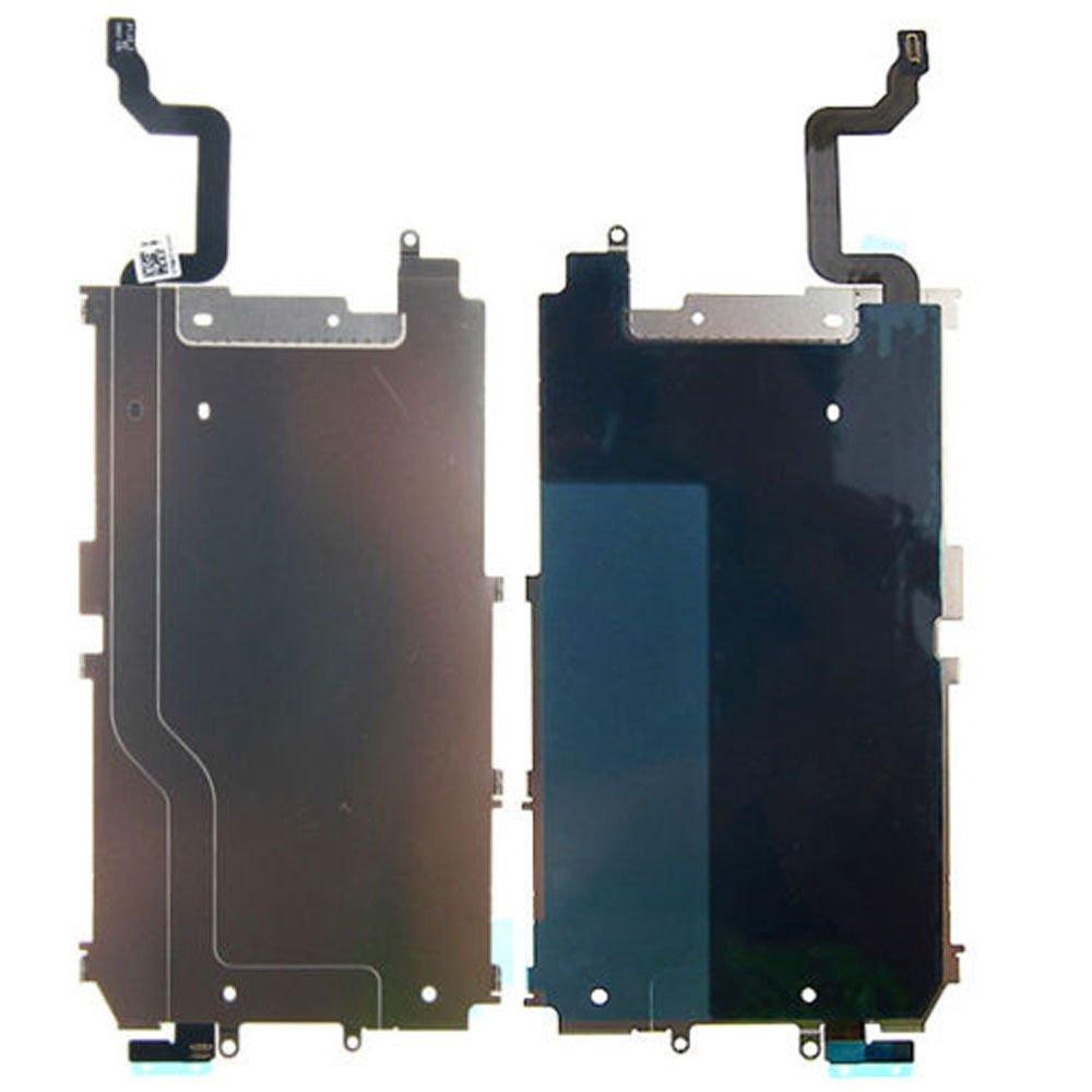 ЖК-экран задняя металлическая пластина щит с кнопкой домой Расширьте гибкий кабель Предустановленная часть замены для iPhone 6 6 Plus 6S 7 8 5S