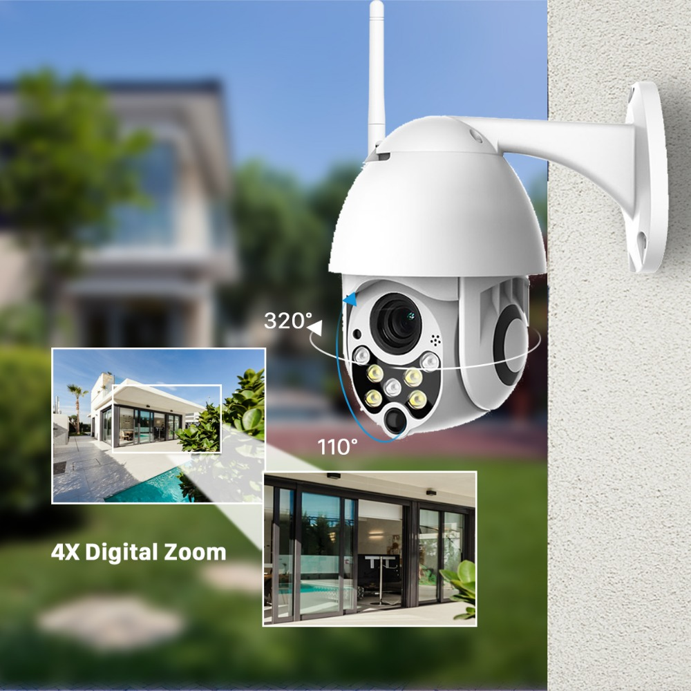 BESDER 1080P Cloud Storage Wireless PTZ IP Camera Speed Dome CCTV Security Cameras Outdoor ONVIF