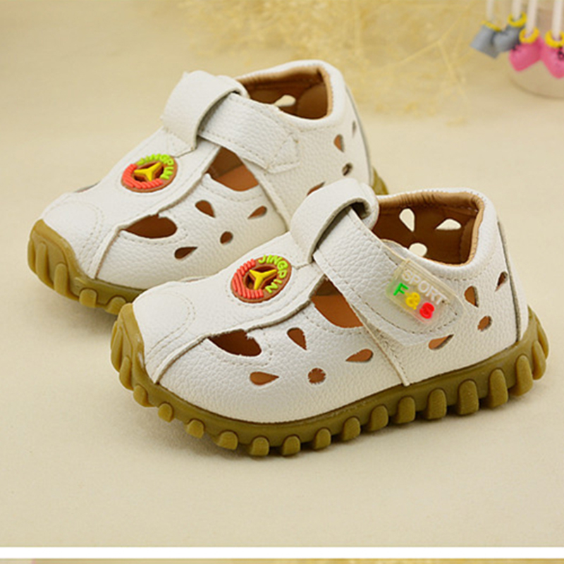 a0476f561 2017 New Summer Baby Shoes Boys Girls Kids Non-slip Beach Children Shoes  Sandals Soft Flat Shoe Sole Korean Leather Sandales