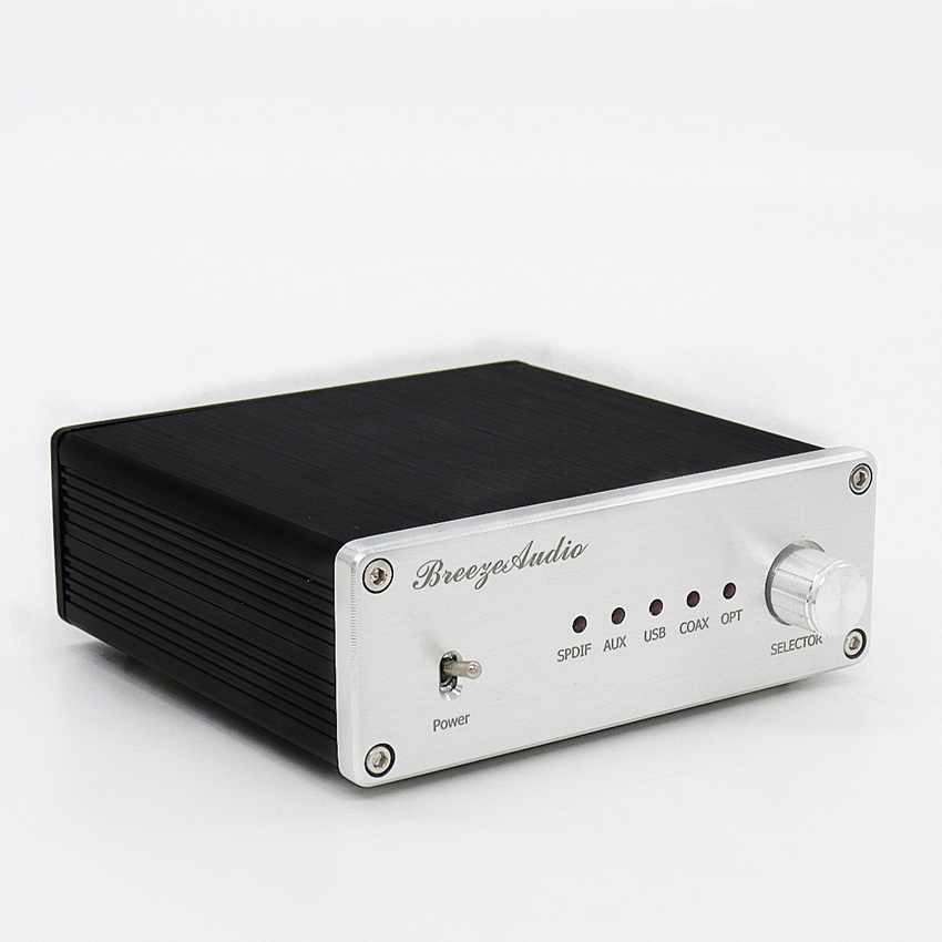 Breeze Audio Audio decoder AK4490 + AK4118 + XMOS USB DAC Decoder Support Coaxial / Optical / USB Input Matching amplifier Use wd 3 dual pcm1794 dac audio decoder ak4118 bluetooth coaxial fiber optic usb headphone amplifier