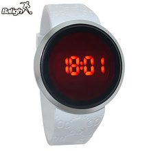 daa8a1d6dad5 Waterproof Mens Watch LED Touch Screen Date Silicone Sport Wrist Watch  Black White reloj(China · 2 Colors Available