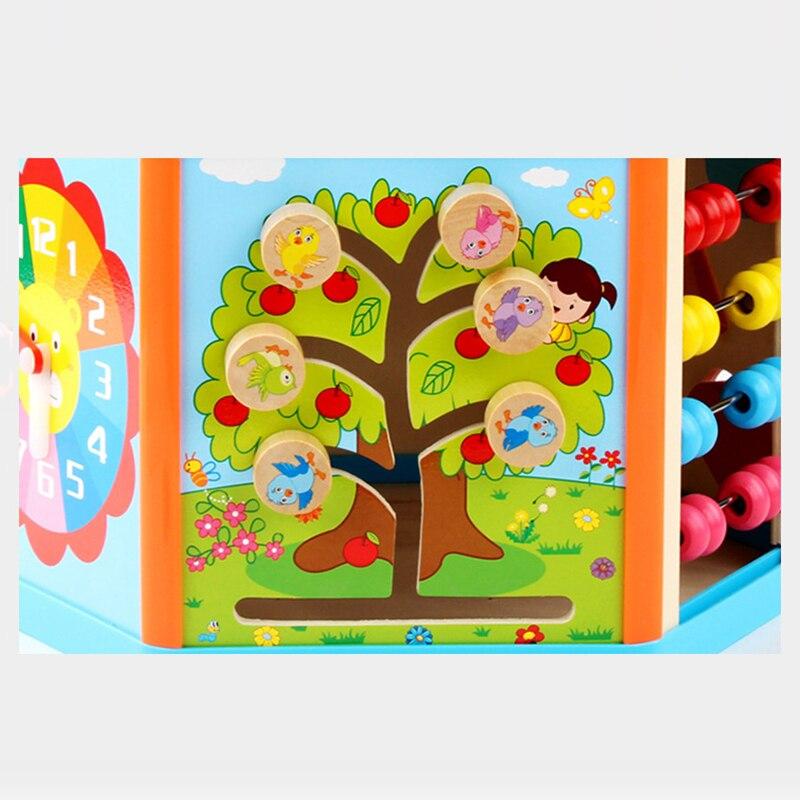 Enfants jouets Montessori jouets en bois 6 côté Intelligence boîte formation jeu Puzzle maths jouets bébé début jouets éducatifs pour les enfants - 6