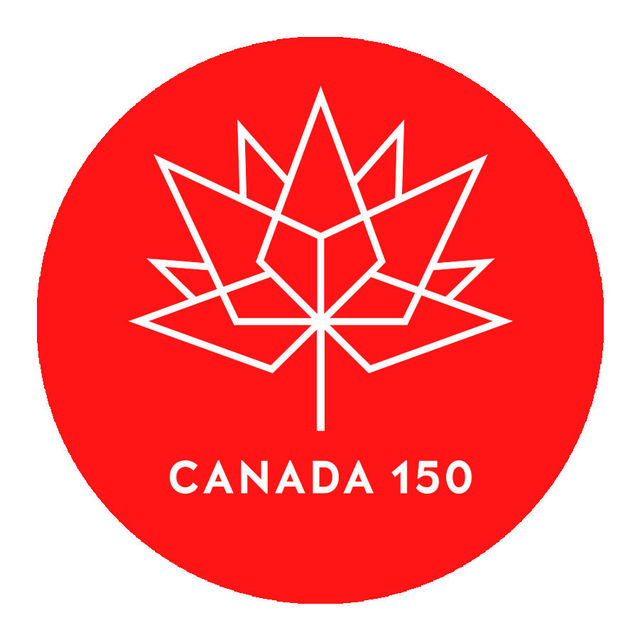 Wall decal vinyl pvc sticker canada 150 anniversary logo car window decoration removable mural poster wall