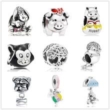 ใหม่ยุโรป 1pc eeyore family tree bead fit Pandora charms (China)