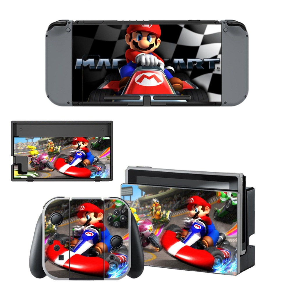 Us 4 22 10 Off Mario Kart 8 Nintendoswitch Skin Nintend Switch Vinilo Skin Sticker Decal For Nintendo Switch Ns Console Joy Con Controller In