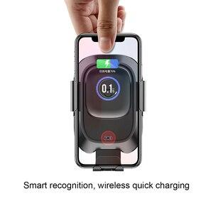 Image 5 - Baseus 10w qi carregador de carro sem fio para o iphone x xs 8 samsung s10 s9 indução infravermelha rápido carregamento sem fio do telefone carro carregador