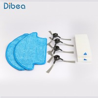 Spare Parts Replacement Including Mop Side Brush Hepa For Dibea D900 Powerful Suction Automatic Self Charging