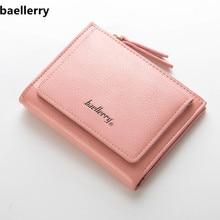 Baellerry Woman Short Zipper Wallet Famous Brand Wallet Women Coin Purse Card Holders Leather Female Purse Carteira Feminina