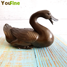 Bronze pure copper duck statue Vintage home decoration animal ornaments Small collection Chinese style lucky
