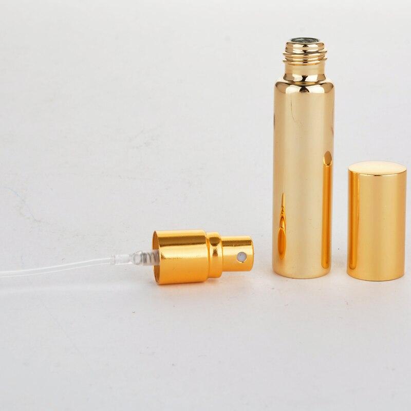 Image 3 - Atacado 100 peças/lote 10 ml garrafa de perfume recarregável de vidro uv portátil com atomizador de alumínio vazio parfum caso para o viajanterefillable perfume bottleperfume bottleperfume bottles wholesale -