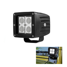 ECAHAYAKU 2x 12w led work light 3 inch offroad driving fog head for car bus wagon 4WD ATV UTE RZR motorcycle truck trailer
