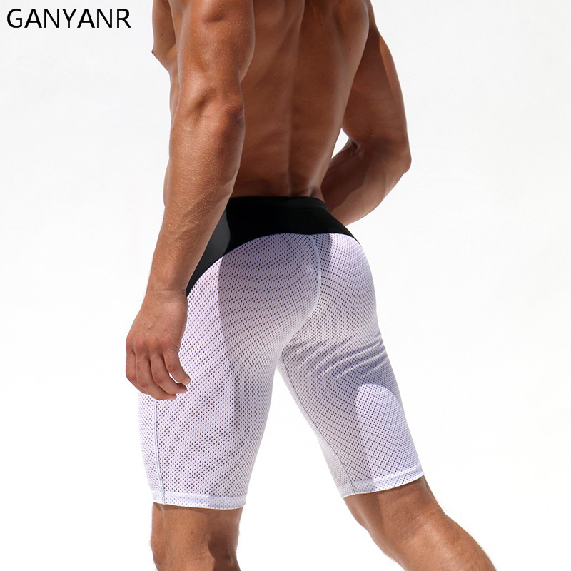 116ec74324336 GANYANR Running Tights Men Sport Leggings Yoga Pants Basketball Compression  Shorts Fitness Gym Athletic Skins quick dry Jogging-in Running Tights from  ...