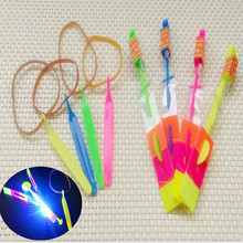 LED Light Up Flashing Dragonfly Glow For Party Toys Children Kid Child Gift Fun Fly Catapult Eject Birthday  5.16