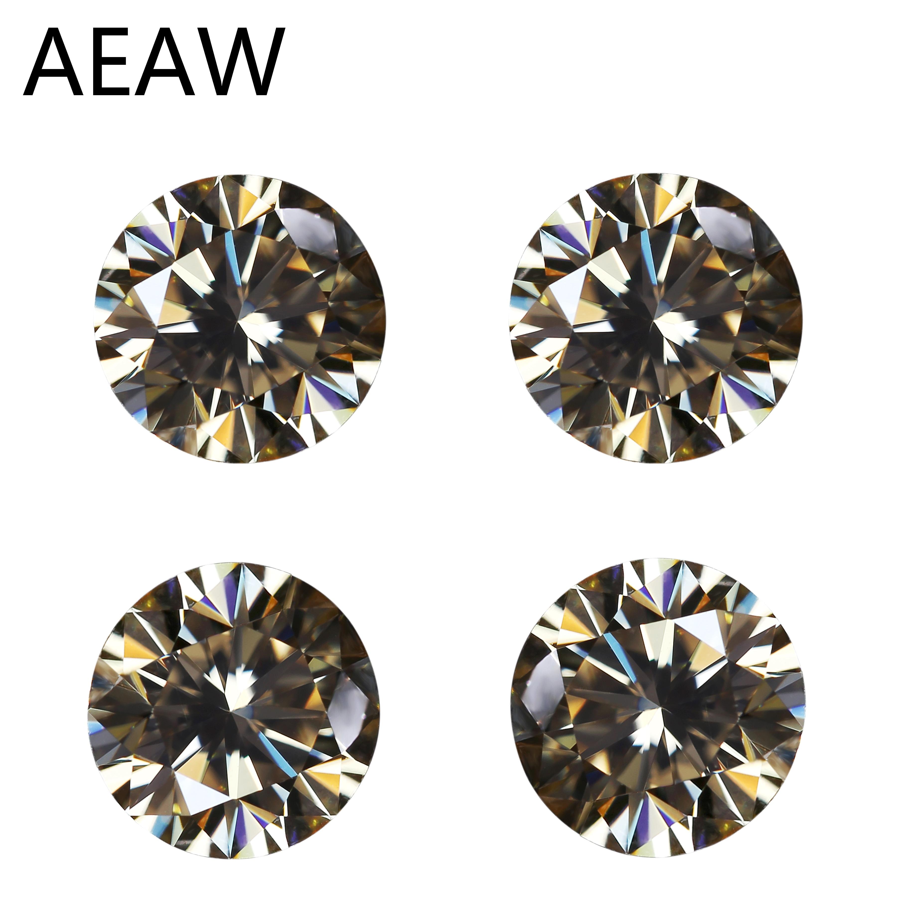 5mm 0.46ct Carat VVS1 Excellent Cut Grade Test Positive Round Cut Yellow Moissanite EF Color Loose Stones Moissanite