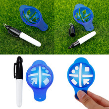 1 шт. внутренний открытый игровой держатель мяча для гольфа маркер шаблон для рисования инструмент для выравнивания ручка для гольфа Тренировочный Набор Аксессуаров