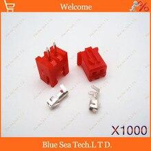1000 компл. Красный 2 Контактный Разъем приводит Heade 2.54 мм XH-2P разъем Комплекты для ПЕЧАТНОЙ ПЛАТЫ/Автомобили/электронная схема т. д.