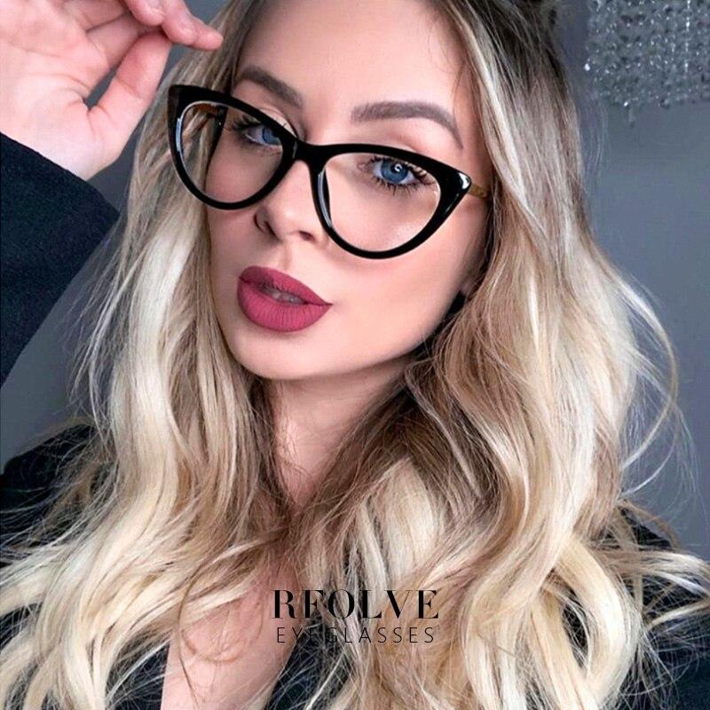 Ultralight Cat Eye Glasses Women Summer New Style Retro Simple Eyewear Frames UV400 Clear Lens Ladies Goggles Optical Frame X153