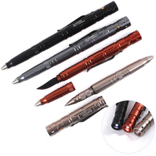 1PC High Brightness LED Light Engraving Aviation Aluminum Alloy Portable Tactical Pen Anti-skid Self Defense Cooyoo Tool