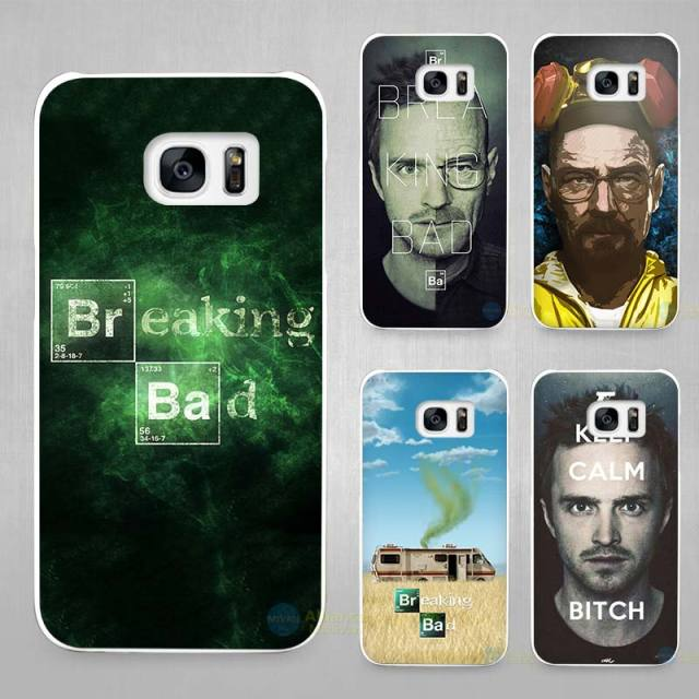 Breaking Bad Hard White Shell Case Cover for Samsung Galaxy S4 S5 S6 S7 Edge Plus