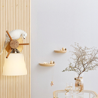 Nordic Modern Led Wall Lamp Dining room Wall Decorative Lamp Bedroom Study Room Solid Wood Bird Lights Wall Lights For Indoor
