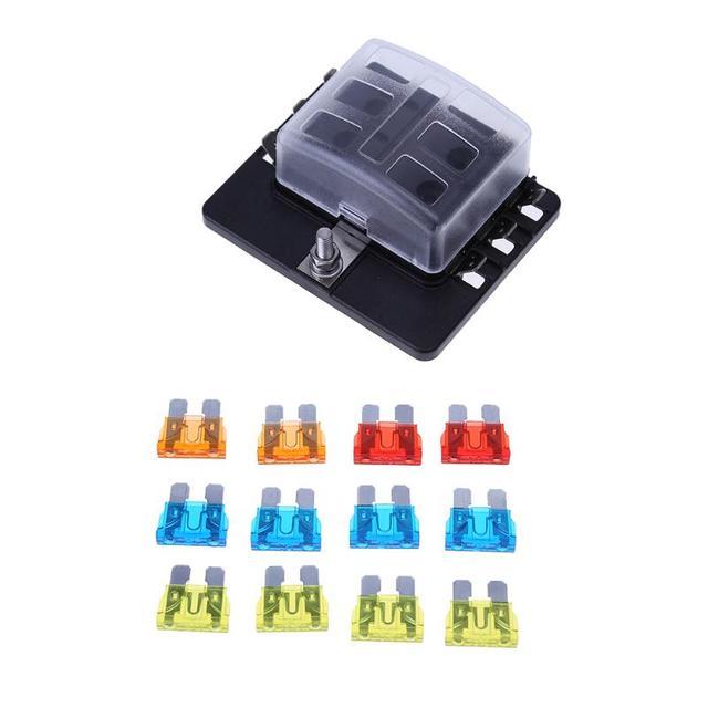 6 Way 12 30V Blade Car Fuse Box Holder with LED Warning Light Kit 100A Car_640x640 aliexpress com buy 6 way 12 30v blade car fuse box holder with fuse box wiring at fashall.co