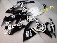Hot Sales,Free custom For SUZUKI GSXR600 06 07 GSXR750 K6 2006 2007 GSXR 600 750 lucky strike Fairing Kit (Injection molding)