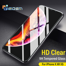 Tiegem Tempered Glass for iPhone 6 6s 7 8 Plus XS Max XR Glass 3PCS/LOT iPhone 7 8 x Screen Protector Glass on iPhone 7 6S 8 50pcs lot book style paper tempered glass retail packing box for iphone 6s plus 6 plus size 165 x 90mm green