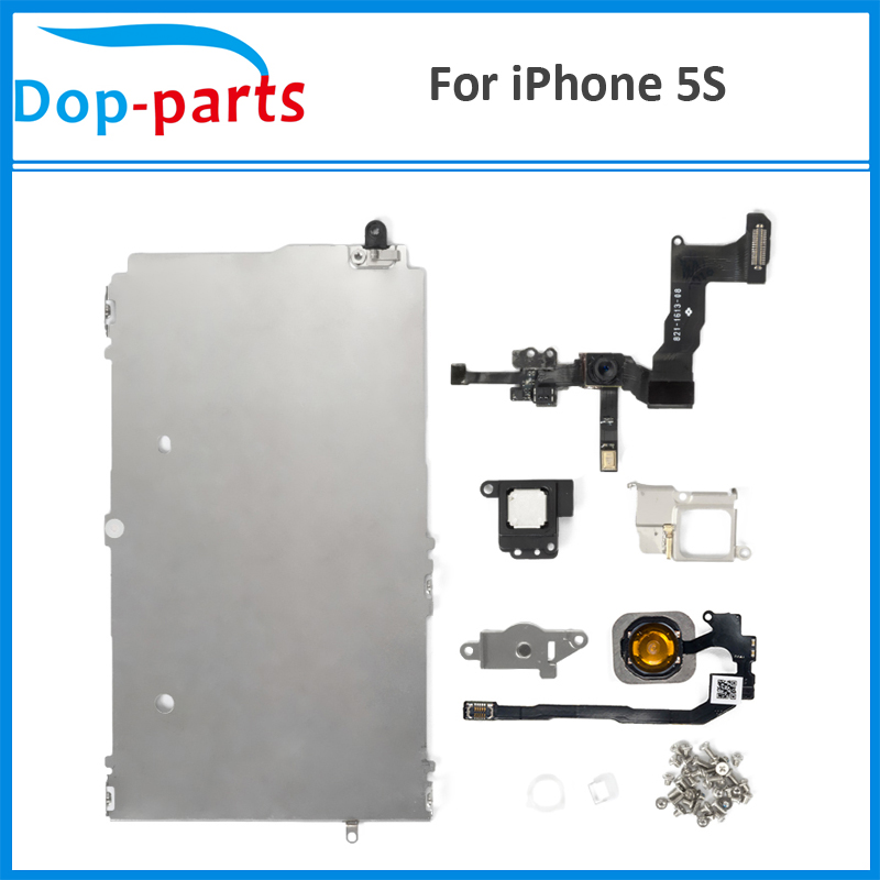 AAA+++ Quality Full Set Spare Repair Parts For iPhone 5S LCD with Home Button Assembly+Flex Cable+Speaker+Front Camera image