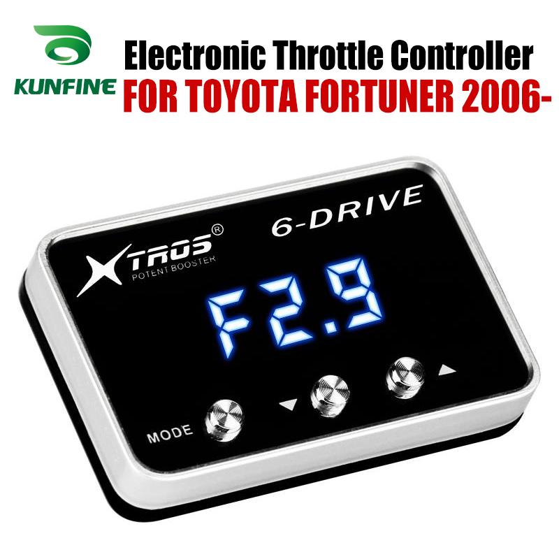 Car Electronic Throttle Controller Racing Accelerator Potent Booster For TOYOTA FORTUNER 2006-2019 Petrol Tuning Parts AccessoryCar Electronic Throttle Controller Racing Accelerator Potent Booster For TOYOTA FORTUNER 2006-2019 Petrol Tuning Parts Accessory