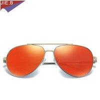 Men's Polarized 2017 Sunglasses Metal Alloy Driving Glasses 100% UV400 Protection Goggles Eyewear Male Pilot Style