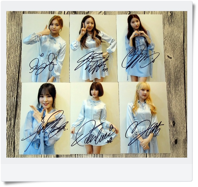 signed GFRIEND autographed  original photo 6 inches 6 photos set freeshipping 062017 A version snsd yoona autographed signed original photo 4 6 inches collection new korean freeshipping 02 2017 01