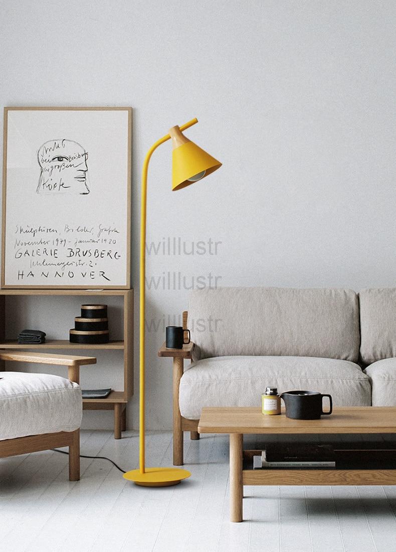 Moderne Lumière Couleur Éclairage Canapé Étude Salon Chambre Hôtel Plancher Lampes Lampadaire Nordique Côté Hall D Macaron Design m08nNwv