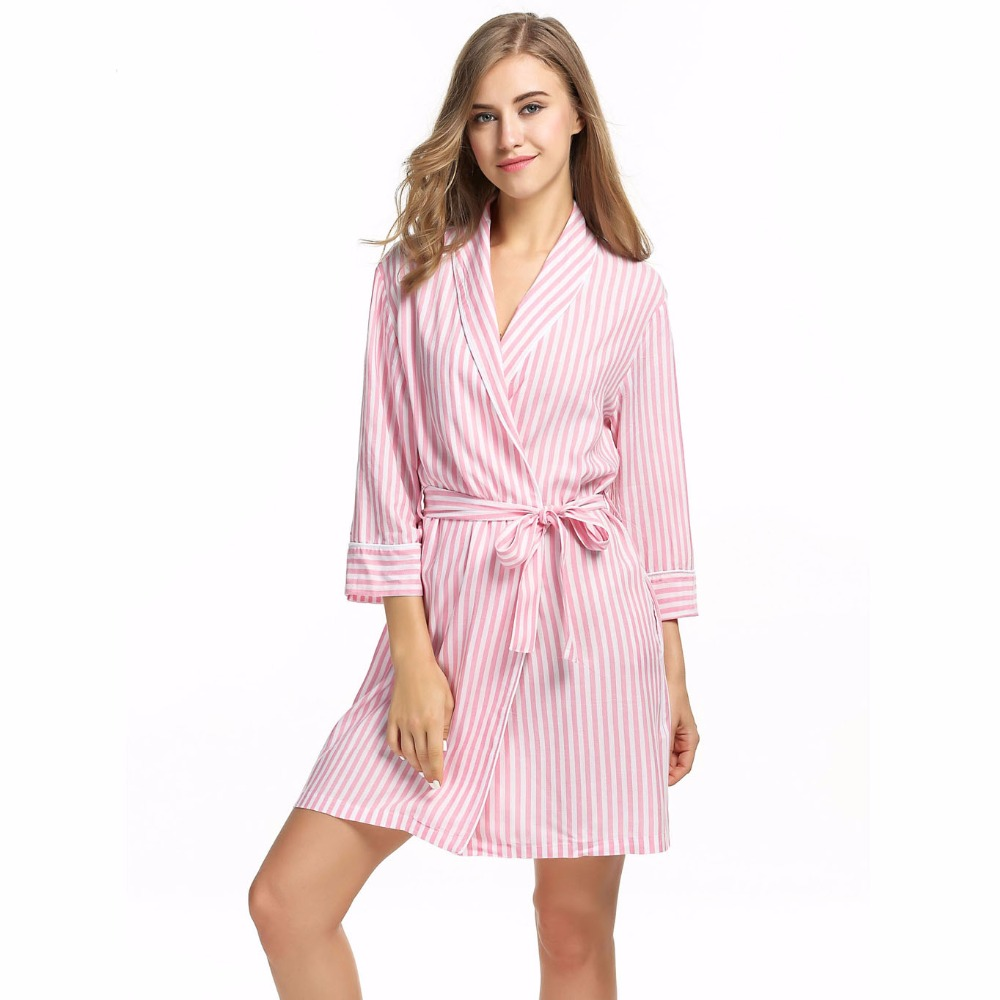 Striped Warm Bathrobes Women Dressing Gown Autumn Winter Bathrobe Sleepwear  Large Size Long Robe Pink Night Dress Peignoir Femme-in Robes from  Underwear ... dc50d07f2