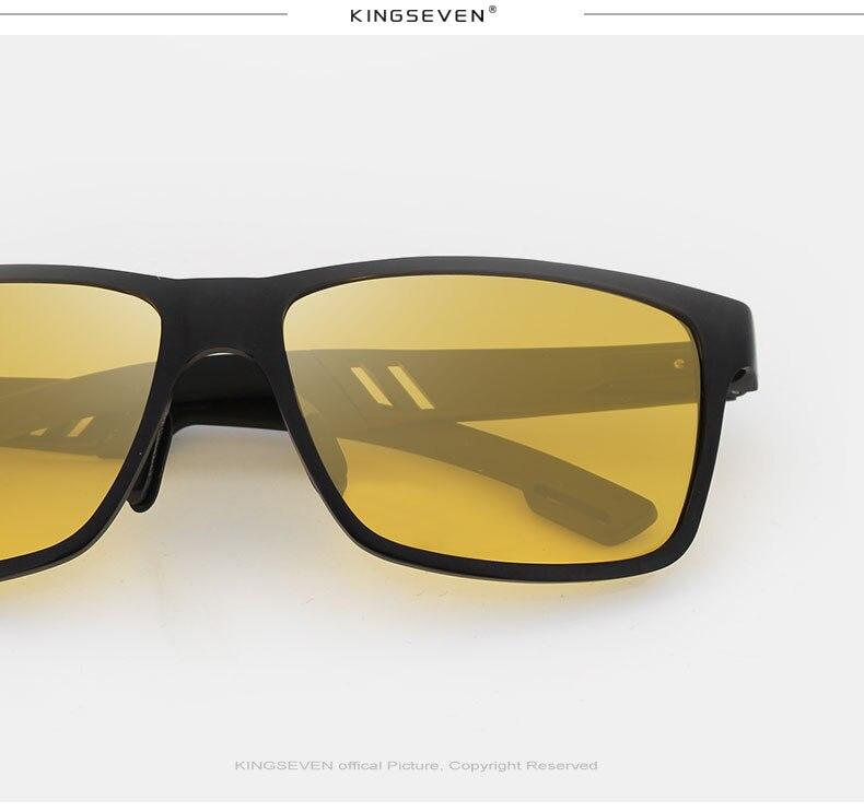 KINFSEVEN Fashion Aluminum Magnesium Polarized Night vision Sunglasses Men Sun Glasses UV400 Driving Eyewear oculos Shades 5