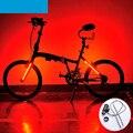 Fresco de la manera 2016 nueva bicicleta luz trasera 8 modelos 24 led MTB Camino de La Bicicleta de Seguridad Advertencia luz Trasera de La Lámpara Accesorios 5 Colores Tenedor luz