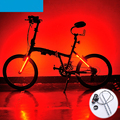 Moda fresco 2016 nova bicicleta luz da cauda 8 modelos 24 led MTB Bicicleta de Estrada Acessórios luz de Aviso de Segurança Da Lâmpada Traseira 5 Cores Garfo luz