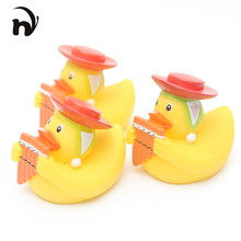 3pcs/lot Drink Float Water Swimming Childs Play  Yellow Rubber Duck Educational for Children Baby Bath Toys