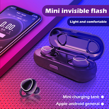 Mini Bluetooth 5.0 Earbuds With Mic Sport Headset Hands-free Stereo Bass Headphone With Charging Dock Xi7 Tws Wireless Earphone free shipping original joway h12 bluetooth headphone wireless sport stereo headset earphone with mic earbuds for mobile phones