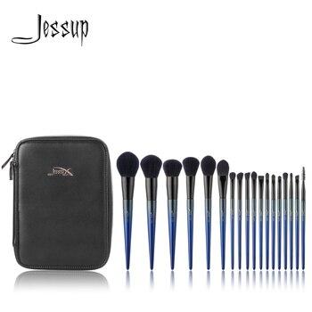 ジェサップメイクブラシ 18 個ブラシセット & 1 PC 化粧品袋女性パウダーファンデーション輪郭ペンシルブラシ