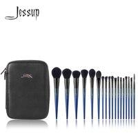 Jessup Makeup brushes 18pcs Make up brush set & 1PC Cosmetic bag women Powder Foundation Contour Pencil eyeshadow brushes