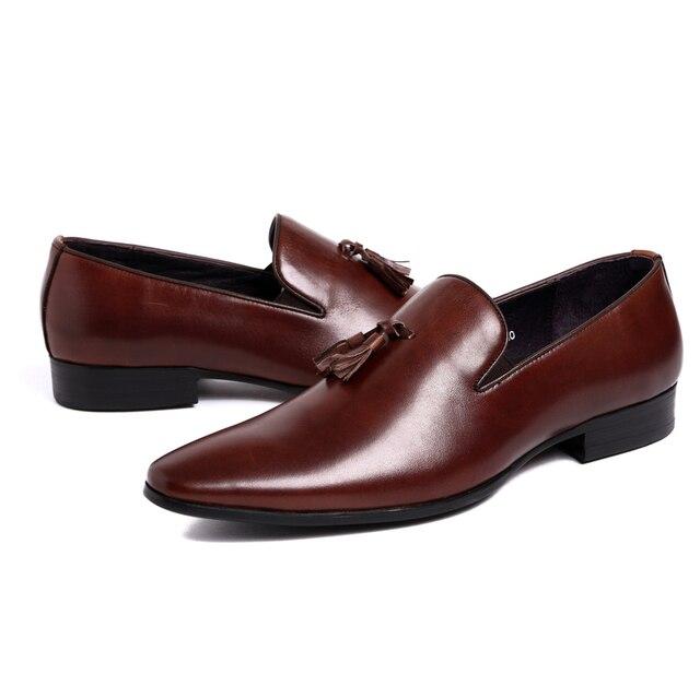 2017 Tel Shoes Men Loafers Black Lace Up Slip On Business Crisp Office Attire