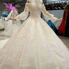 AIJINGYU のウェディングドレスと高級ドレス格安近く私レースインド美しいウェディングプリンセスドレス
