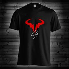 Rafael Nadal Logo T Shirt RN Rafa Tennis Player New 2018 Cotton Short-Sleeve T-Shirt Sleeve Shirts Fashion top tee