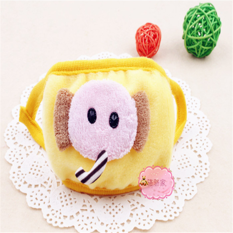 30pcs/Pack Autumn And Winter Cartoon Cute Childrens elephant Cotton Three-Dimensional Dust-proof Warm Baby Masks Wholesale