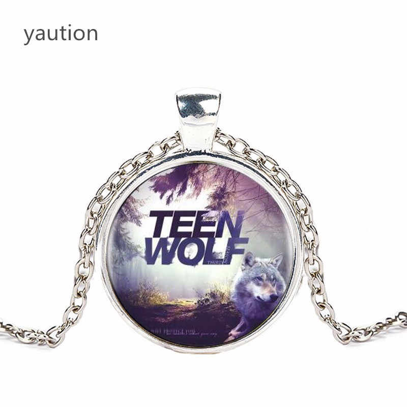 Teen Wolf Logo Pendants and Necklace for Women / Men Vintage Cabochon Striking Necklace Chain Black hot selling