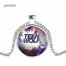Teen Wolf Logo Pendants and Necklace for Women / Men Vintage Cabochon Striking Necklace Chain Black hot selling(China)