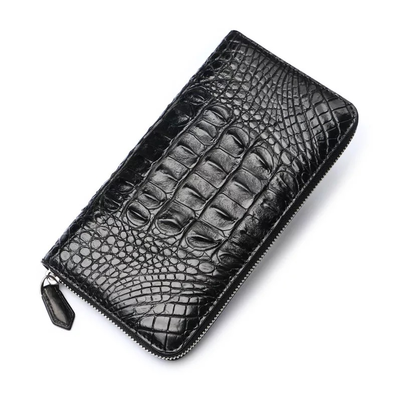 Classical Designer Genuine Crocodile Leather Male Large Clutch Purse Authentic Real Alligator Skin Men Card Holders Long Wallet